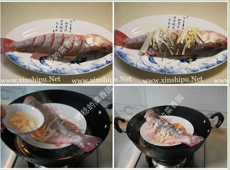 酒酿蒸鲈鱼的做法图