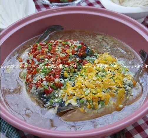 鸳鸯剁椒鱼头火锅的做法