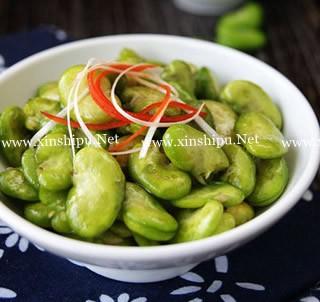 椒油炝蚕豆的做法