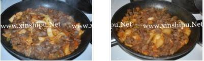 辣白菜炒鸡胗的做法图
