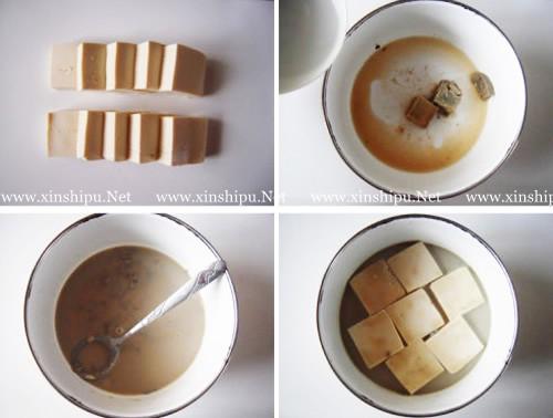 第2步油炸臭豆腐的做法图片