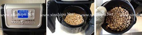 第4步油炸花生米的做法图片