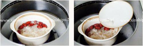 第3步女人润肤补血的红枣木耳汤的做法图片