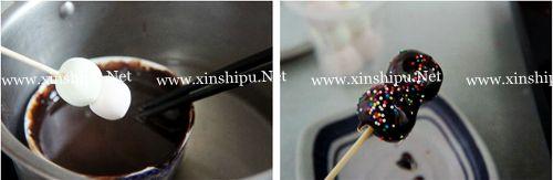 第3步巧克力棒棒糖的做法图片