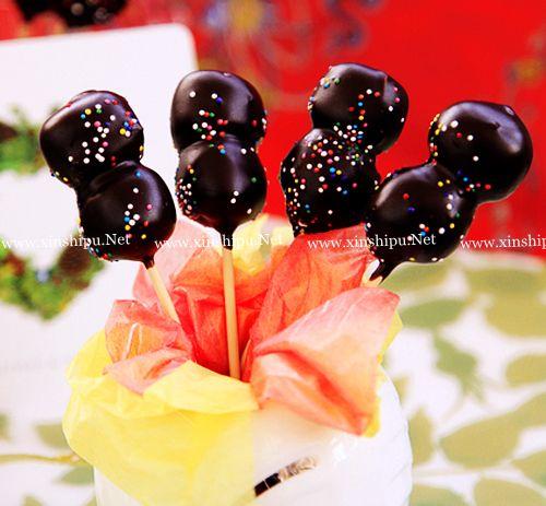 第4步巧克力棒棒糖的做法图片