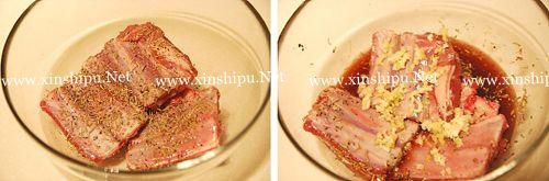 第2步红酒蒜香羊排的做法图片
