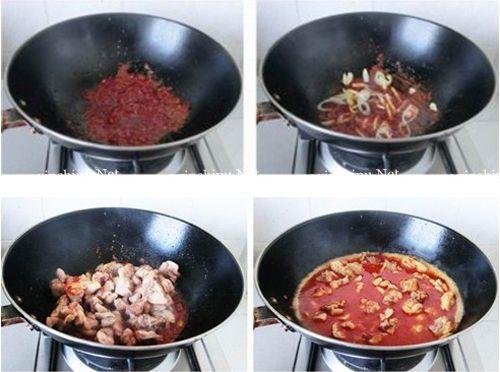 第4步麻辣十足味浓醇厚的麻辣水煮兔的做法图片