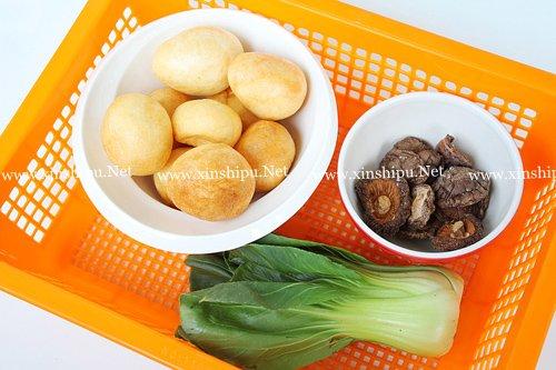 第2步香菇烧面筋的做法图片