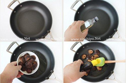 第5步香菇烧面筋的做法图片
