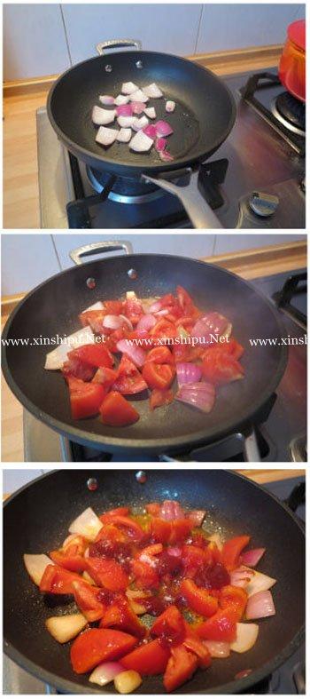 第6步茄汁薄荷炖小牛腱的做法图片