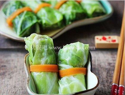 女性减肥健身美食翡翠头菜卷